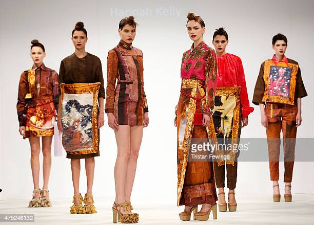 Designs by Hannah Kelly of Liverpool John Moores on day 1 of Graduate Fashion Week at The Old Truman Brewery on May 30 2015 in London England