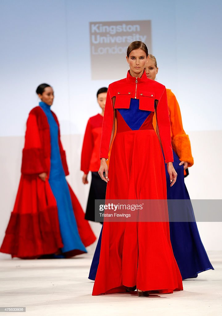 Designs by Josh Read of Kingston University on day 3 of Graduate Fashion Week at The Old Truman Brewery on June 1, 2015 in London, England.