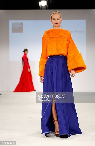 Designs by Josh Read of Kingston University on day 3 of Graduate Fashion Week at The Old Truman Brewery on June 1 2015 in London England
