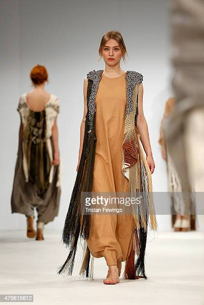 Designs by Maria Allejandra Parra of Colegiatura Colombiana during the Samsonite International Catwalk Competition on day 4 of Graduate Fashion Week...