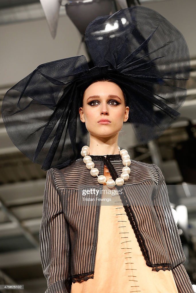 Designs by Maurice Connolly from UCA Rochester during the Best of Graduate Fashion Week show on day 4 of Graduate Fashion Week at The Old Truman...