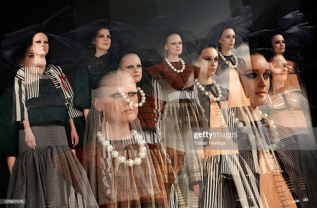 Designs by Maurice Connolly from UCA Rochester on day 4 of Graduate Fashion Week at The Old Truman Brewery on June 2 2015 in London England