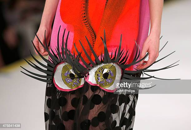 Designs by Niamh Maguire from Manchester School of Art on day 3 of Graduate Fashion Week at The Old Truman Brewery on June 1 2015 in London England