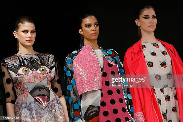 Designs by Niamh Maguire from Manchester School of Art on day 4 of Graduate Fashion Week at The Old Truman Brewery on June 2 2015 in London England