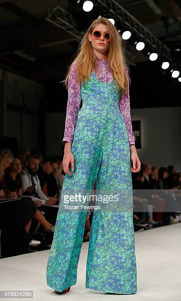 Designs by Paige Alexander of the University of Northampton on day 3 of Graduate Fashion Week at The Old Truman Brewery on June 1 2015 in London...