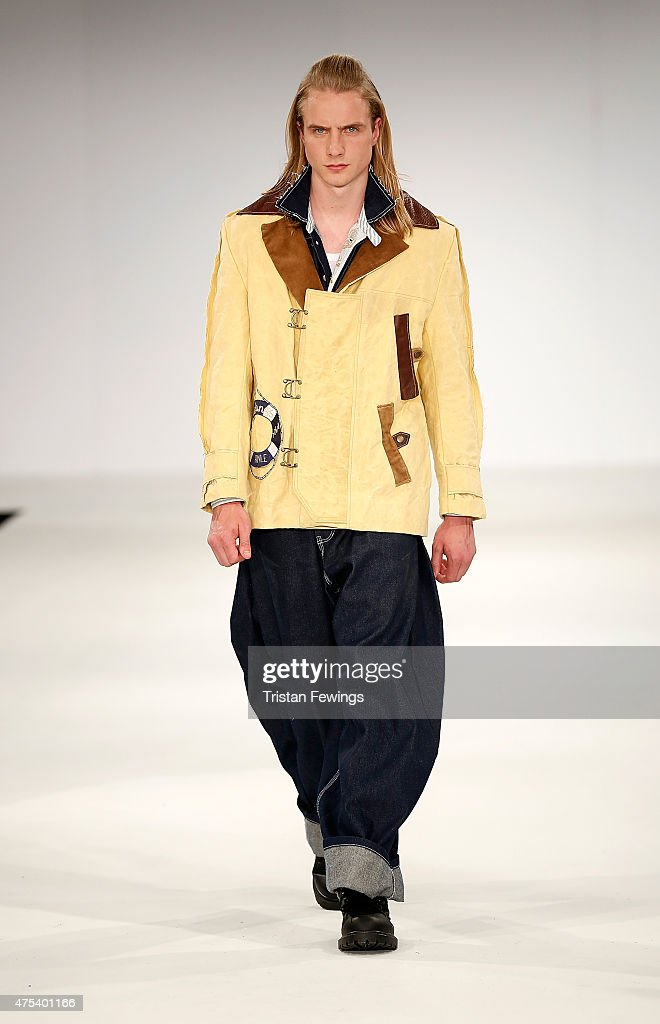 Designs by Rhianna Ellis of the University of East London on day 2 of Graduate Fashion Week at The Old Truman Brewery on May 31 2015 in London England