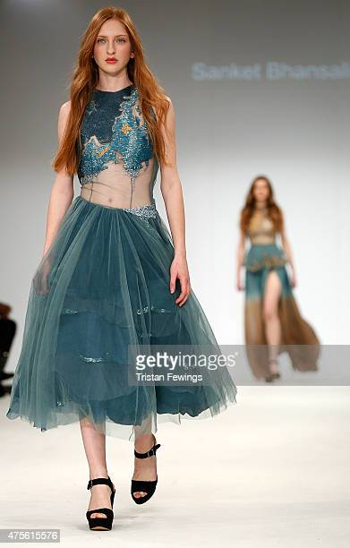 Designs by Sanket Bhansali of FAD International Academy during the Samsonite International Catwalk Competition on day 4 of Graduate Fashion Week at...