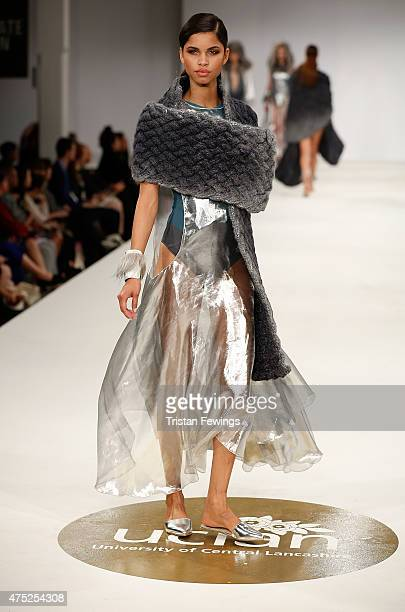 Designs by Sara Louise Stephenson of the University of Central Lancashire on day 1 of Graduate Fashion Week at The Old Truman Brewery on May 30 2015...