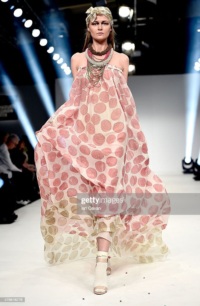 Designs by Selena Gaytan Correa of the Universidad CENTRO Mexico on day 4 of Graduate Fashion Week sponsored by George at Asda at The Old Truman...