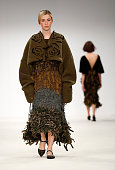 Designs by Stephanie Jukes of Bath Spa University on day 3 of Graduate Fashion Week at The Old Truman Brewery on June 1 2015 in London England