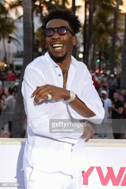 Desiigner attends Paramount Pictures' World Premiere of 'Baywatch' on May 13 2017 in Miami Florida