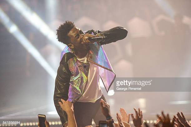Desiigner performs at the 2016 iHeartRADIO MuchMusic Video Awards at MuchMusic HQ on June 19 2016 in Toronto Canada