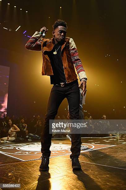 Desiigner performs onstage during the Puff Daddy and The Family Bad Boy Reunion Tour presented by Ciroc Vodka and Live Nation at Barclays Center on...