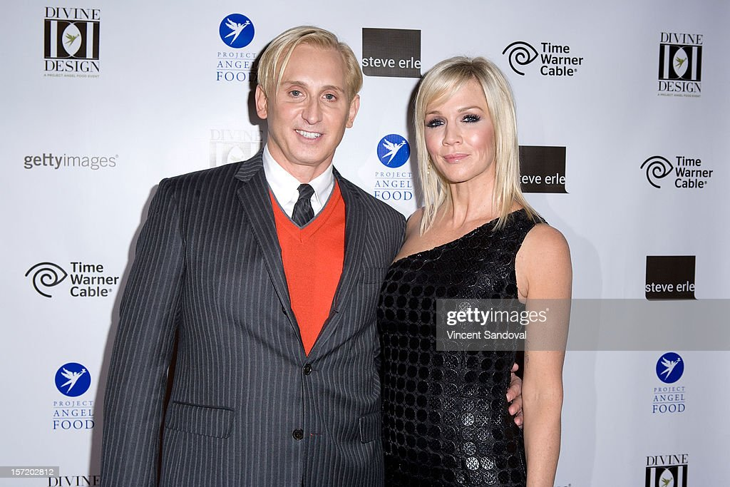 Desinger David Meister and actress <a gi-track='captionPersonalityLinkClicked' href=/galleries/search?phrase=Jennie+Garth&family=editorial&specificpeople=210841 ng-click='$event.stopPropagation()'>Jennie Garth</a> attend the Divine Design 2012 Opening Rock 'n' Roll Party on November 29, 2012 in Beverly Hills, California.
