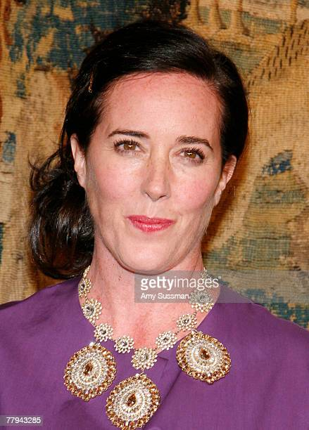 Desinger Kate Spade attends the fashion industry's battle against HIV/AIDs at the '7th on Sale' gala held at the 69th Regiment Armory on November 15...