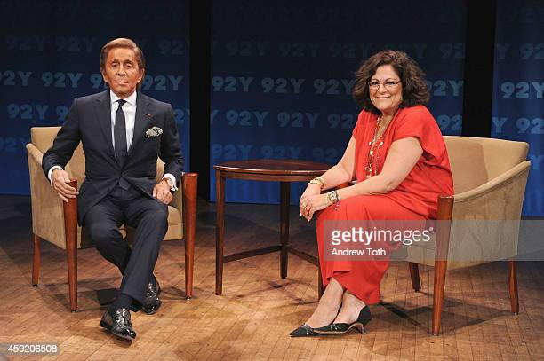 Desinger Valentino Garavani and Fern Mallis attend 92nd Street Y Presents In Conversation with Fern Mallis and Valentino at 92nd Street Y on November...