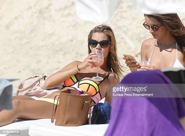Desire Cordero and Noelia Lopez are seen on the beach on June 7 2015 in Ibiza Spain