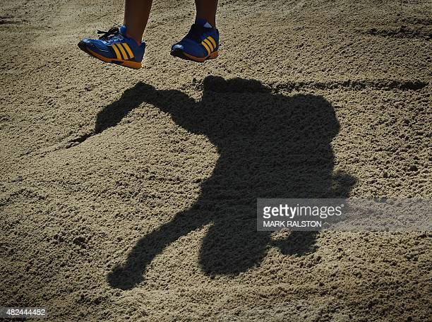 Desire Namaona of Malawi competes during the finals of the Women's Standing Long Jump during the 2015 Special Olympics World Games at the Loker USC...