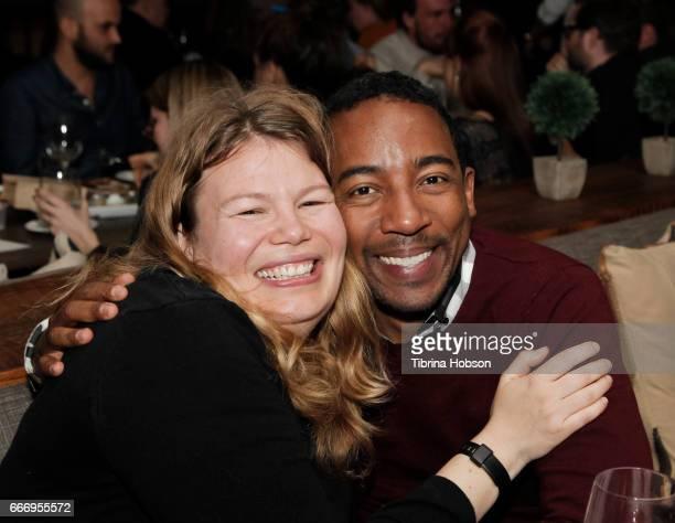 Desiree Andrews and Steve Wilson attend the 2017 Aspen Shortsfest Awards Dinner on April 9 2017 at Aspen Kitchen in Aspen Colorado