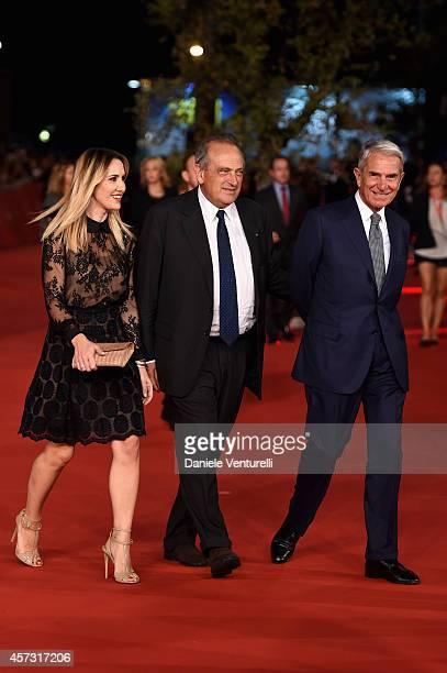 Desiree Colapietro Petrini Luigi Abete and Carlo Rossella attend the Rome Film Festival Opening and 'Soap Opera' Red Carpet during the 9th Rome Film...