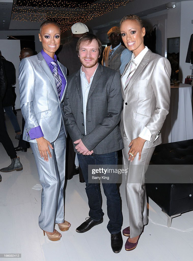 Desiree Glover, musician Adam Waldon and Erin Green attend the WHO CED In-Store Holiday Launch Party at Brigade LA on December 12, 2012 in Los Angeles, California.