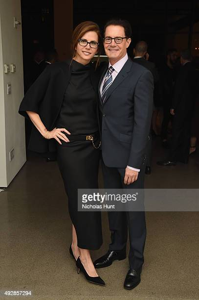 Desiree Gruber and Kyle MacLachlan attend God's Love We Deliver Golden Heart Awards at Spring Studio on October 15 2015 in New York City