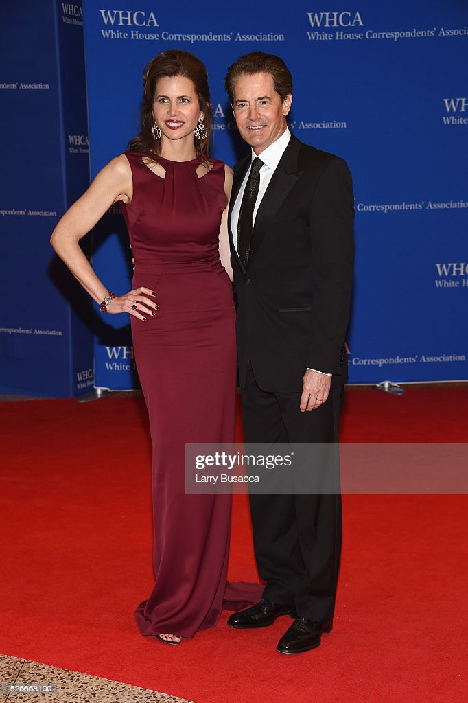 Desiree Gruber (L) and Kyle MacLachlan attend the 102nd White House Correspondents' Association Dinner on April 30, 2016 in Washington, DC.