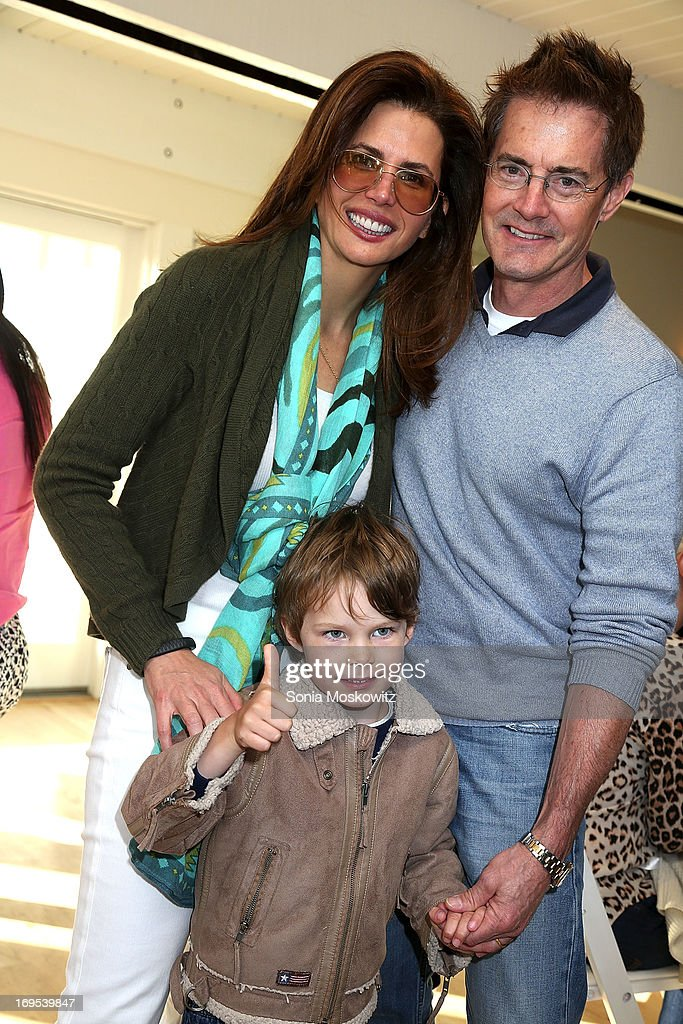 <a gi-track='captionPersonalityLinkClicked' href=/galleries/search?phrase=Desiree+Gruber&family=editorial&specificpeople=592139 ng-click='$event.stopPropagation()'>Desiree Gruber</a>, Kyle Maclachlan and son Callum Maclachlan attend Haley & Jason Binn's Annual DuJour Summer Kick Off Soiree with The Borgata Hotel & Casino at Bridgehampton Tennis and Surf Club on May 26, 2013 in Bridgehampton, New York.