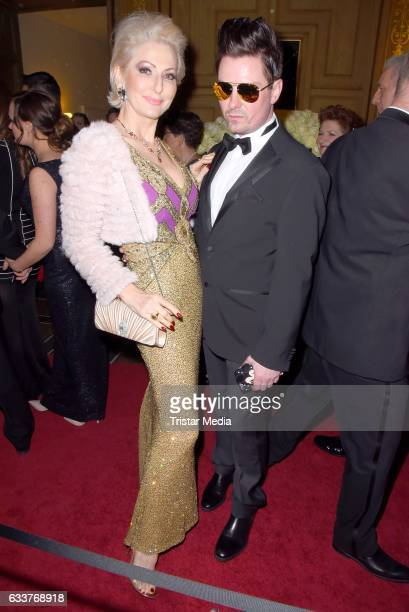 Desiree Nick and guest during the Semper Opera Ball 2017 at Semperoper on February 3 2017 in Dresden Germany