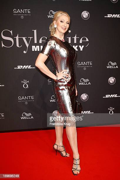 Desiree Nick arrives at the 'Michalsky Style Nite' during the MercedesBenz Fashion Week Autumn/Winter 2013/14' at Tempodrom on January 18 2013 in...