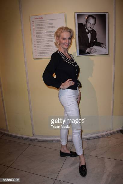 Desiree Nick attends the 'Aufguss' Premiere at Theatre Kurfuerstendamm on April 2 2017 in Berlin Germany