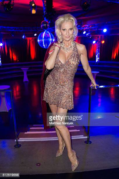 Desiree Nick attends the Berlin premiere of the show 'Holiday on Ice Passion' on February 26 2016 in Berlin Germany