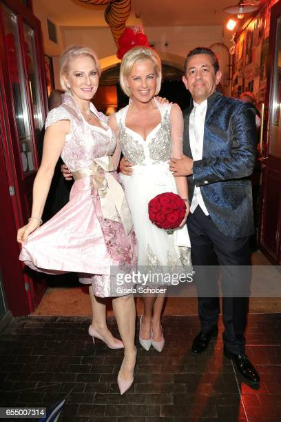 Desiree Nick bride Astrid Soell and bridegroom Volker Woehrle during the wedding party of dirndl fashion designer Astrid Soell and her husband Volker...