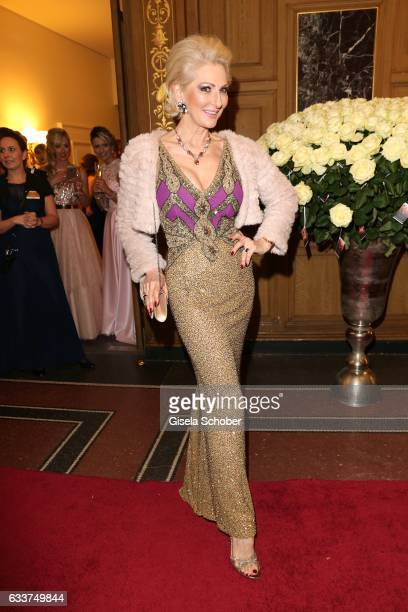 Desiree Nick during the Semper Opera Ball 2017 at Semperoper on February 3 2017 in Dresden Germany