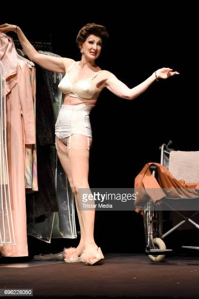 Desiree Nick performs during the rehearsal of the play 'Bette Joan' on June 15 2017 in Berlin Germany