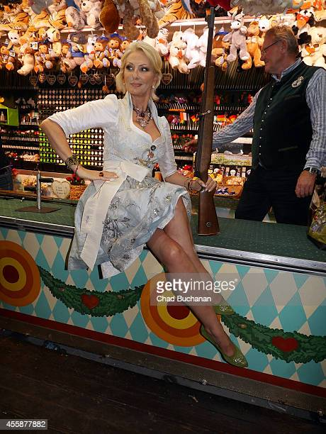 Desiree Nick sighted during Oktoberfest at Theresienwiese on September 21 2014 in Munich Germany