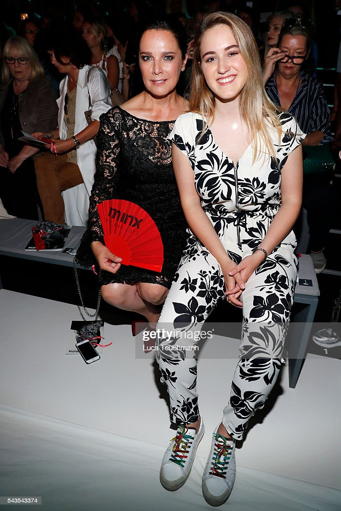 Desirée Nosbusch (L) and her daughter Luka Teresa attend the Minx by Eva Lutz show during the Mercedes-Benz Fashion Week Berlin Spring/Summer 2017 at Erika Hess Eisstadion on June 29, 2016 in Berlin, Germany.