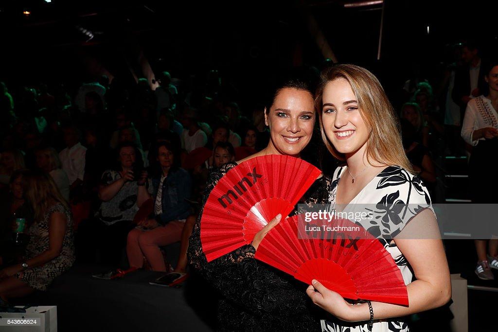 Desiree Nosbusch and her daughter Luka TeresaGerda Kloser attend the Minx by Eva Lutz show during the MercedesBenz Fashion Week Berlin Spring/Summer...