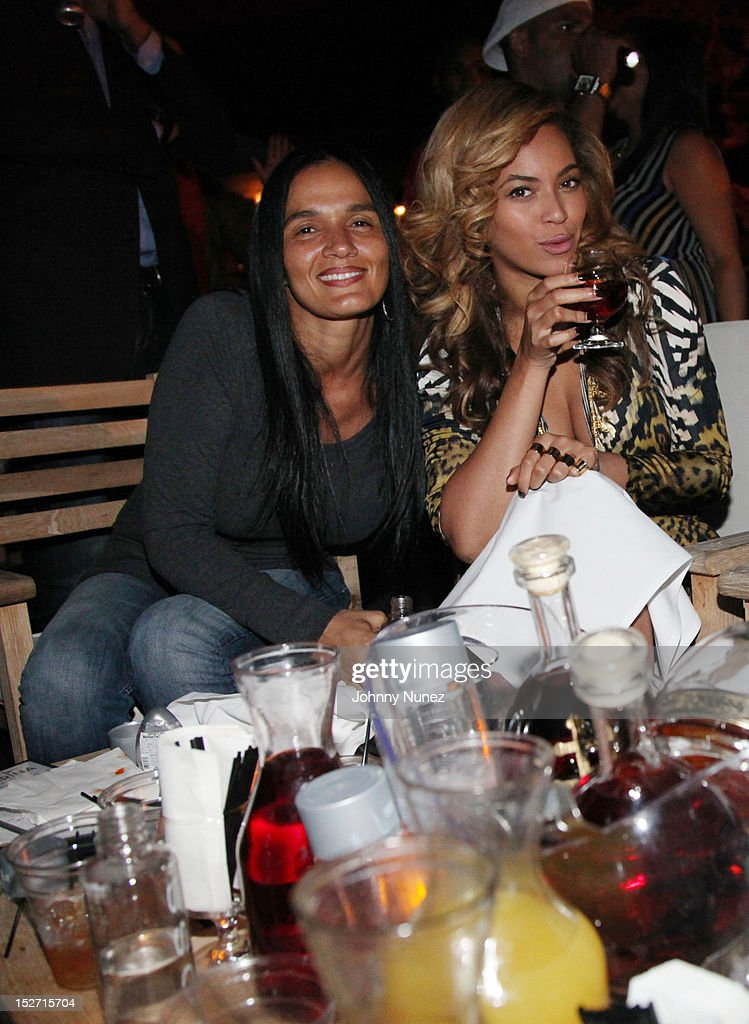 Desiree Perez and Beyonce attend the Jay-Z And Beyonce Summer Ends With D'USSE Cognac Cocktails Celebration at La Marina Restaurant Bar Beach Lounge on September 23, 2012 in New York City.