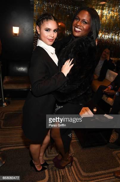 Desiree Ross and Deborah Joy Winans attend 'Greenleaf' Season 2 Premiere Party at W Atlanta Midtown on March 13 2017 in Atlanta Georgia
