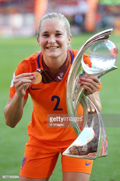 Desiree van Lunteren of Holland Women during the UEFA WEURO 2017 final match between The Netherlands and Denmark at the Grolsch Veste on August 06...