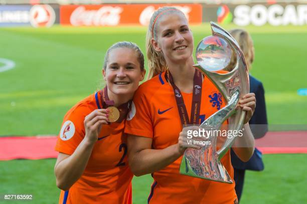 Desiree van Lunteren of Holland Women Kelly Zeeman of Holland Women during the UEFA WEURO 2017 final match between The Netherlands and Denmark at the...