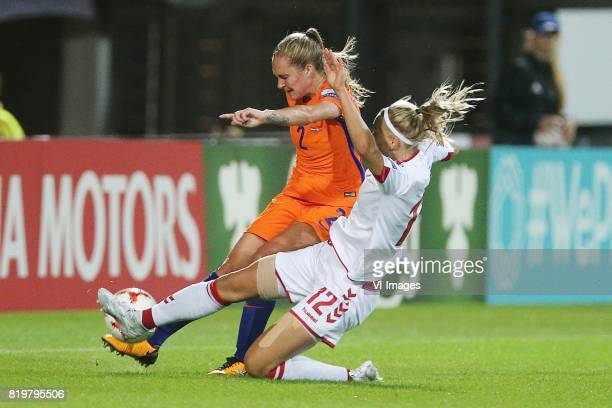 Desiree van Lunteren of Holland Women Stine Larsen of Denmark women during the UEFA WEURO 2017 Group A group stage match between The Netherlands and...
