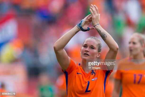 Desiree van Lunteren of the Netherlands celebrate their win during their Group A match between Netherlands and Norway during the UEFA Women's Euro...