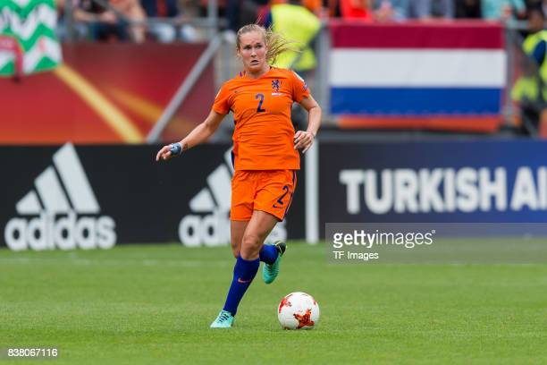 Desiree van Lunteren of the Netherlands controls the ball during their Group A match between Netherlands and Norway during the UEFA Women's Euro 2017...
