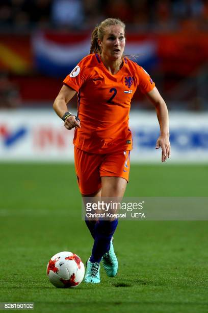Desiree van Lunteren of the Netherlands runs with the ball during the UEFA Women's Euro 2017 Second Semi Final match between Netherlands and England...