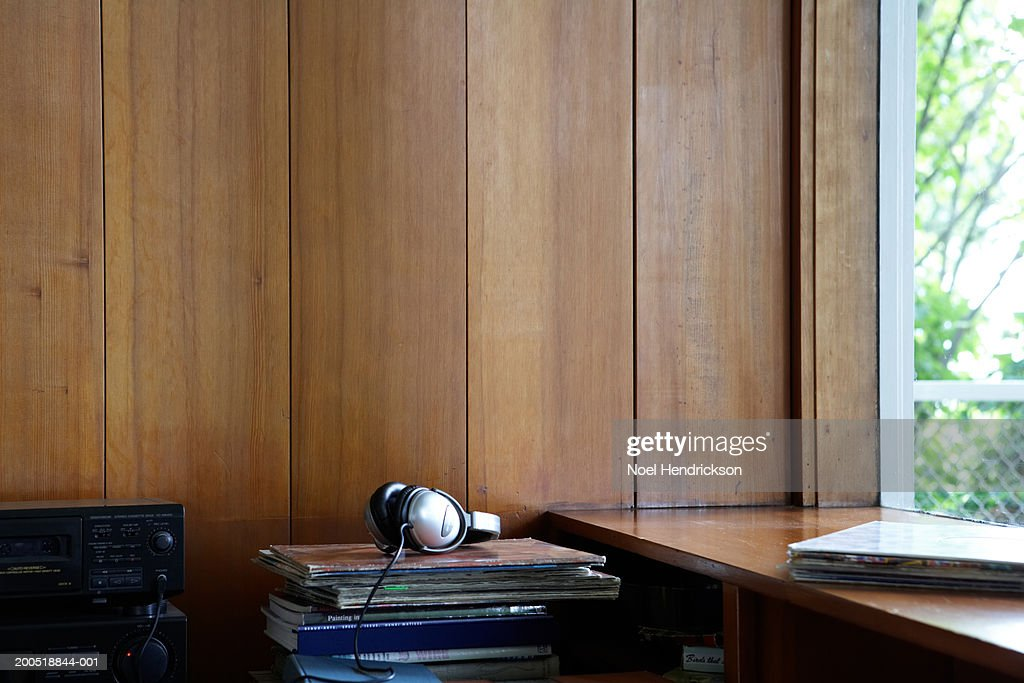 Desk by window : Stock Photo
