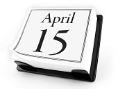Desk Calendar - April 15th (with clipping path)