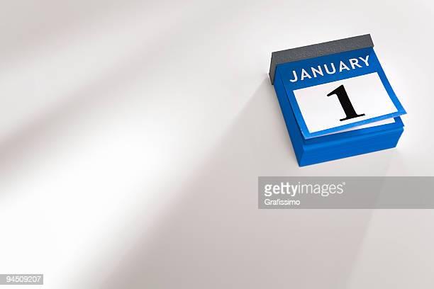 Desk calendar new year 2016 January 1st