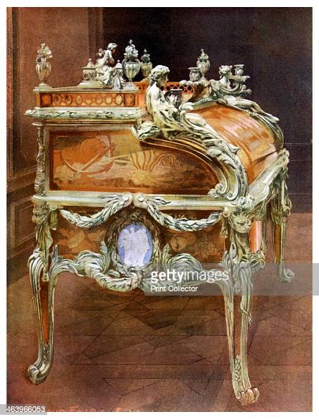 Desk of Louis XV the Louvre Paris 19111912 Bureau du Roi Louis XV cylinder desk in French transitional Louis XVXVI style Designed by JeanFrancois...